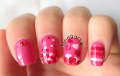 Jamegackie: Skittle Valentines Day Nails