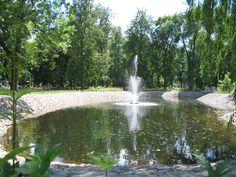 Fountain in Vilnius Bernardinai Garden