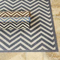 Chevron Stripe Indoor/Outdoor Rug - modern - rugs - Ballard Designs - Entry rug?