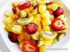 fruit salad with lime