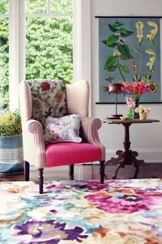 Think about using floral fabrics to cover cushions or upholster a statement  chair. A floral a78daac2b0