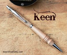 Keen Handcrafted Handmade Wood Chrome Slimline Pencil