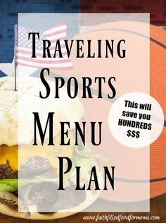 Traveling Sports Menu Plan ~ Are your kids in sports? Then you know how much money you spend each time you eat out during a sporting event! These Sports Tournament Food Ideas will save you a ton of money and make even your picky eaters happy! Team Snacks, Sport Snacks, Sport Food, Sport Sport, Sport Wear, Volleyball Tournaments, Baseball Tournament, Baseball Season, Volleyball Snacks