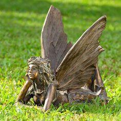 1 of Fairy at Rest Sculpture Statue Elegant Home Patio Garden Outdoor Decor Large Garden Statues For Sale, Fairy Statues, Outdoor Garden Statues, Angel Garden Statues, Lawn And Garden, Garden Art, Indoor Garden, Garden Angels, Vegetable Garden Design