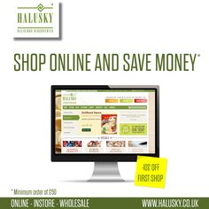 Now you can afford more delicious products.Do the first #shopping online on http://www.halusky.co.uk  and get £10 off