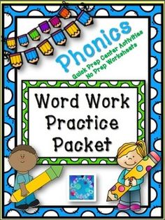 Quick Prep center activities and No Prep Worksheets to support phonics instruction.Practice includes...* word-building* printing* identifying/naming* sortingThe center activities can be used during literacy block and practice pages can be used as an extension during unit lessons or for morning work or homework.