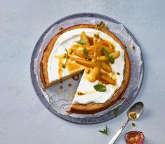 Ein frisch-säuerlich-süsses Vergnügen: Passionsfrüchte setzten den Kontrapunkt zu den süssen Birnen und dem Caramel.