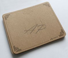 200pcs  Scroll Imprint Display Card in Brown by AccessoryPlace, $15.00