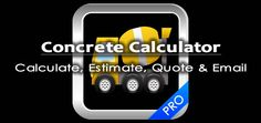 Concrete Calculator - The calculator for working out the amount of concrete for concrete piers, footings and concrete pads for construction.
