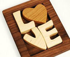 Love Puzzle wood art puzzle by manzanitakids on Etsy, $32.00