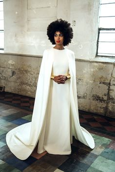 Solange Knowles left jaws dropping with her breathtaking wedding fashion, highlighted by capes for her Sunday, Nov. 16 nuptials to Alan Ferguson.