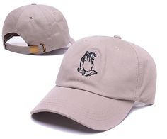 6fdaea1bbc37d Men s   Women s Unisex Ripndip Lord Nermal Held By Praying Hands Embroidery  Baseball Adjustable Hat -