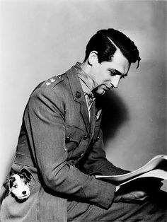 Cary Grant with a puppy in his pocket