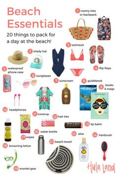 20 Beach Bag Essentials: Use this beach packing list so make sure you don't . - Bucket List Ideas - 20 Beach Bag Essentials: Use this beach packing list so make sure you don't . Source by Beach Trip Packing, Beach Vacation Outfits, Packing List For Vacation, Packing Tips For Travel, Europe Packing, Traveling Europe, Backpacking Europe, Travel Hacks, Spring Vacation