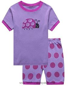 Baby Girl Clothes IF Pajamas Ladybug Baby Girls Shorts Set Pajamas 100% Cotton Clothes Infant Kid Toddler 18-24 Months