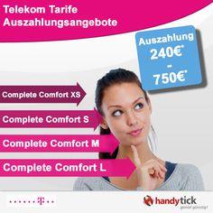 Die neuen Telekom Complete Comfort Tarife mit Auszahlungsangeboten
