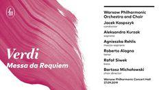 Verdi - Messa da Requiem (WarsawPhil Orch&Choir / Kaspszyk / Kurzak / Re. Mezzo Soprano, Metropolitan Opera, Concert Hall, Conductors, Orchestra, Band