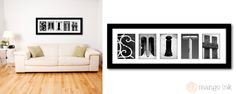 Your name in alphabet letter art. Great personalised gift! mangoink.com.au
