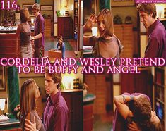 Little Buffy things 116. Cordelia and Wesley pretending to be Buffy and Angel, 'Fredless'