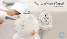 Mini Cakes Ornament Tutorial — Bonnie Gordon College of Confectionary Arts Cupcakes, Cupcake Cakes, Cake Decorating Techniques, Cake Decorating Tutorials, Sculpted Cakes, Ornament Tutorial, Theme Noel, Fondant Tutorial, Painted Cakes