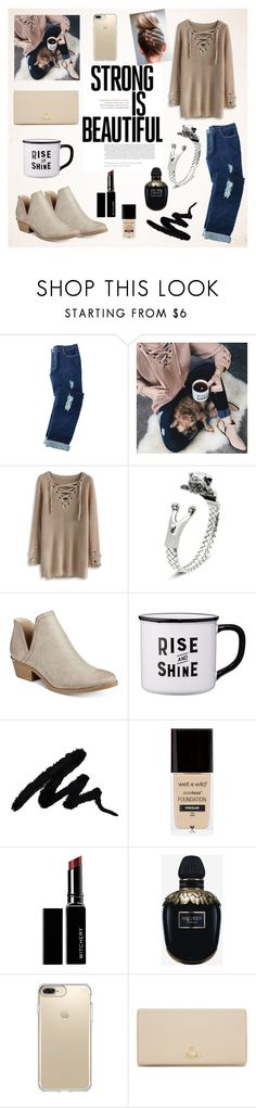 """""""Lace-up Mood Sweater"""" by almir-djulo ❤ liked on Polyvore featuring Avon, Chicwish, Bar III, Witchery, Alexander McQueen, Vivienne Westwood, iphone, dog, mug and polyvoreset"""