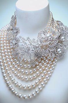 Collar de perlas combinado