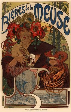 """""""Alphonse Maria Mucha is most often remembered for the prominent role he played in shaping the aesthetics of French Art Nouveau at the turn of the century."""