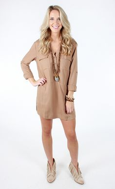 Caramel Latte Shirt Dress