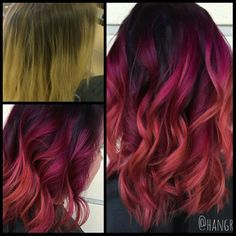 * Berry Sunset ... by Hannah @hangrenadez at @salonhalo352 @paulmitchellus #btcpics #jpms #pmlife
