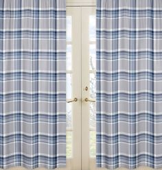 Add a little prep to your little one's room with the Plaid Window Panel Pair in Navy/Grey from Sweet Jojo Designs. This matching window panel pair features the collection's signature grey and blue plaid design for a fun and stylish look. Plaid Bedding, Plaid Curtains, Drapes Curtains, Country Curtains, Kids Window Treatments, Teen Boy Bedding, Window Panels, Curtain Panels, Curtain Sets