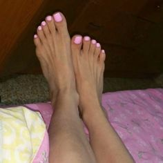 Nice pink toenails Pink Pedicure, Foot Pedicure, Nice Toes, Pretty Toes, Feet Soles, Women's Feet, Hot Pink Toes, Foot Love, Sexy Toes