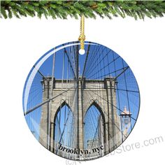 Remember your time in New York City with a Brooklyn Bridge Porcelain Christmas ornament to display each year. (http://www.nycwebstore.com/brooklyn-bridge-porcelain-christmas-ornament/)