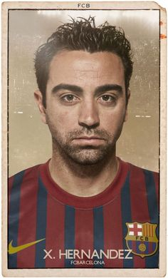 For the La-Liga Season, Diver & Aguilar have recreated these vintage style cards with the first team squad of FC Barcelona,including Lionel Messi, who for the third year runni Fc Barcelona, Barcelona Players, Barcelona Soccer, Soccer Cards, Football Cards, Football Soccer, Pure Football, Xavi Hernandez, Good Soccer Players