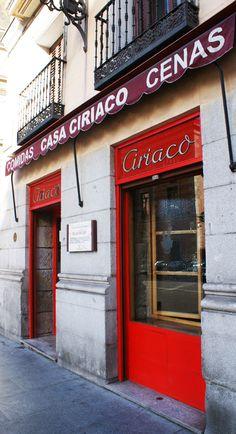 Casa Ciriaco. Restaurante y bar. Calle Mayor esquina a San Nicolás, Madrid