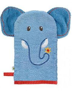 Waschhandschuh Elefant BABY GLÜCK in blau Crochet Projects, Sewing Projects, Projects To Try, Towel Crafts, Hand Puppets, Baby Kind, Bath Time, Coin Purse, Baby Boy