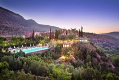 Kasbah Tamadot in the Atlas Mountains, Morocco