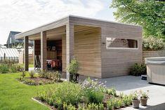 Livinlodge pure zwijnaarde moderne bijgebouwen in hout livinlodge
