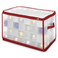 Keep your special ornaments in perfect condition year after year in this holiday Whitmore large Ornament Storage Chest.  These boxes will soon be as much a part of your holiday tradition as the special collectibles they contain. Overstock