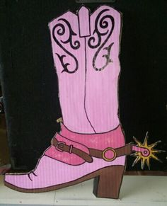 Cowgirl boot, birthday decoration
