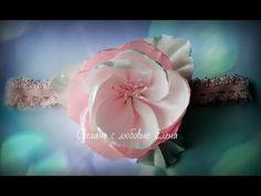 Flower Kanzashi Master Class hand made DIY МК Канзаши  Повязка на голову...