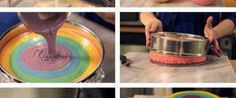 Foto - Receita de Como fazer bolo arco-íris