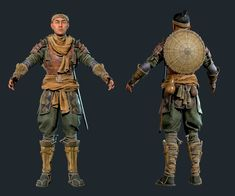 ArtStation - Sergei Kotenko's submission on Feudal Japan: The Shogunate - Game Character Art (real-time) Ancient Armor, Medieval Armor, Medieval Fantasy, Fantasy Warrior, Fantasy Art, Game Character, Character Concept, Buildings Artwork, Shadow Of Mordor
