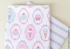Купить Ткань хлопок Пирожные ткани компаньоны - ткань для творчества, ткань для шитья, ткань для рукоделия