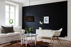 dark charcoal feature wall