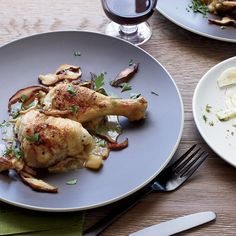 Braised Chicken with Apples and Calvados | Chef Matthew Accarrino uses apples plus cider and the apple brandy Calvados to add layers of flavor to his braised chicken.