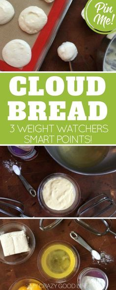 This low carb Cloud Bread recipe has just 2.5 carbs per batch–that's about 15 pieces! Great for those on Weight Watchers. Just 3 Smart Points per serving!