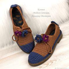Броги женские цвет Деним и Красная глина – купить или заказать в интернет-магазине на Ярмарке Мастеров | Броги – удобная и стильная обувь на низком…