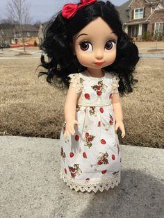 Strawberry Fairy with Lace Dress Disney by DiningRoomQuiltShop