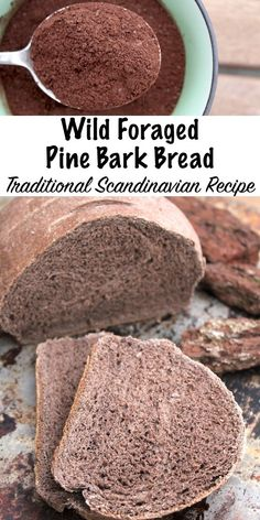 Pine Bark Bread (with outer bark) Wild Foraged Pine Bark Bread ~ Traditional Scandinavian Recipe for bread made with the bark of pine trees. Historical evidence shows it has been eaten for hundreds of years, and it's still made today. Scandinavian Food, Good Food, Yummy Food, Wild Edibles, Survival Food, Survival Tent, Survival Hacks, Mets, How To Make Bread