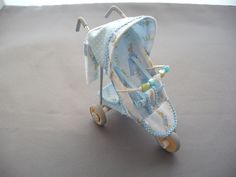 1/12th scale 3 wheel modern Peter Rabbit buggy/ stroller/ baby carriage/ pushchair, hand crafted miniature